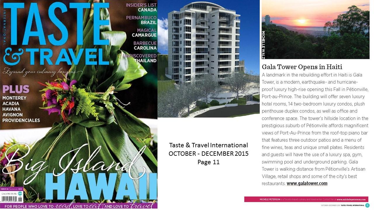 Taste & Travel International, October December 2015