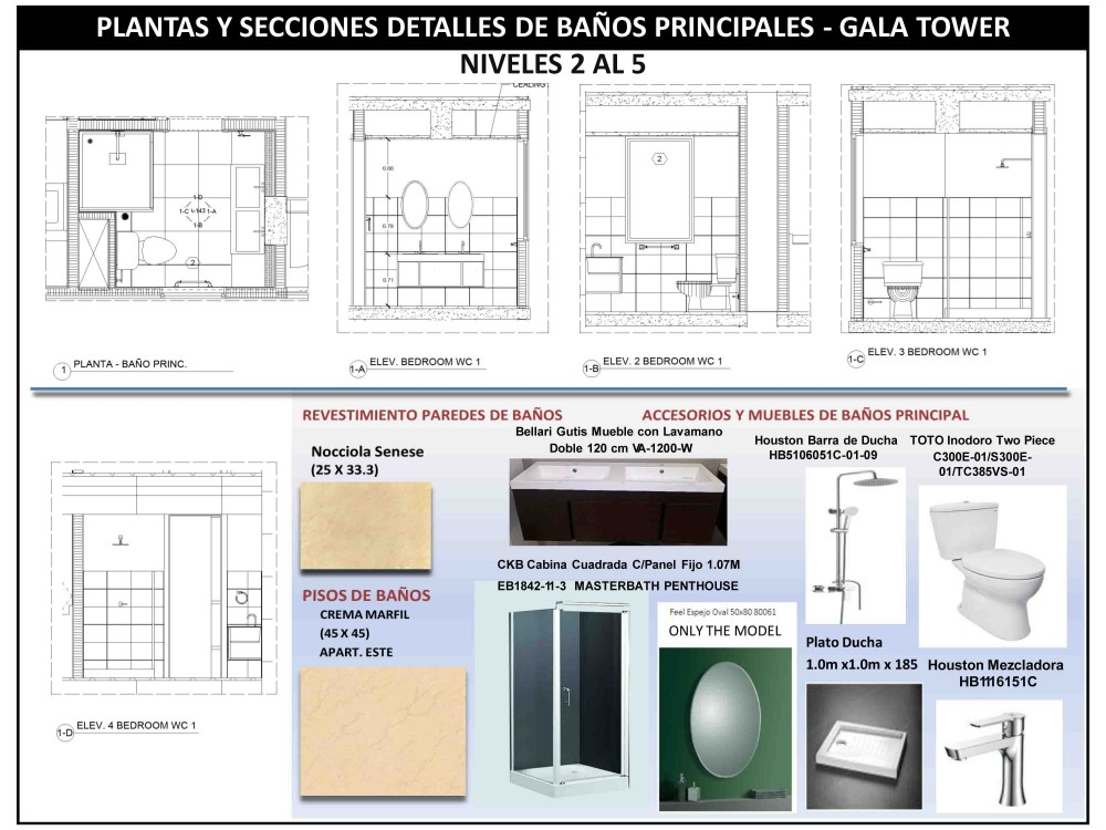 Project plan gala tower for Bathroom project plan